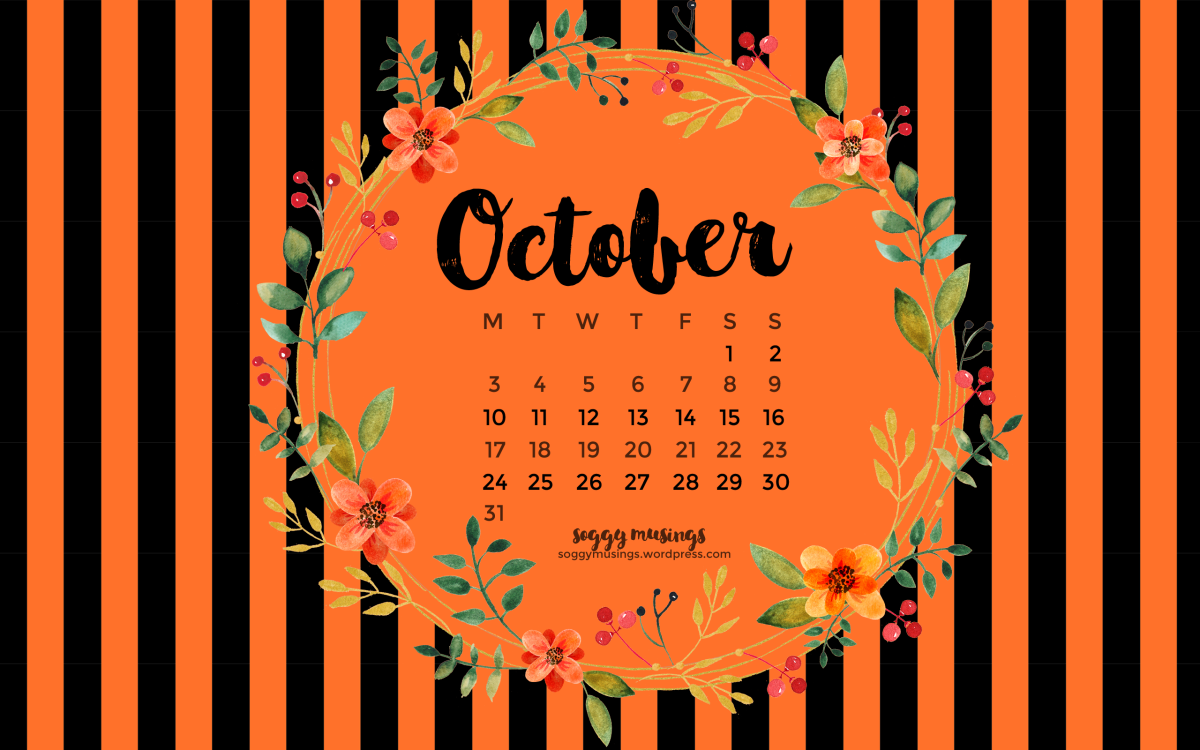 October 2016 Wallpaper Calendar
