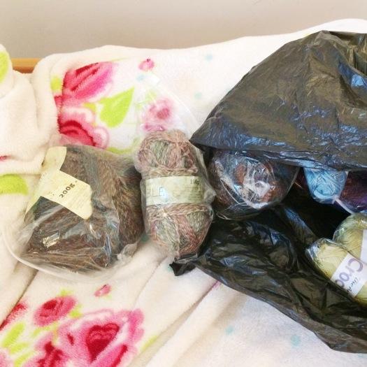 Stash bag full of yarn