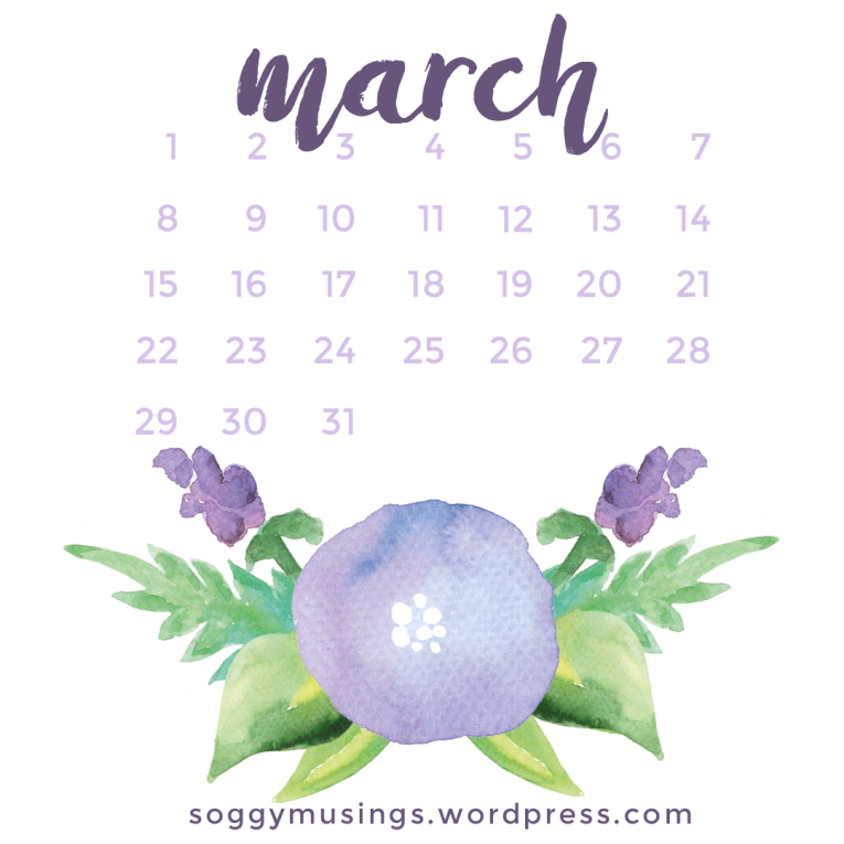 March 2017 wallpaper for iPad