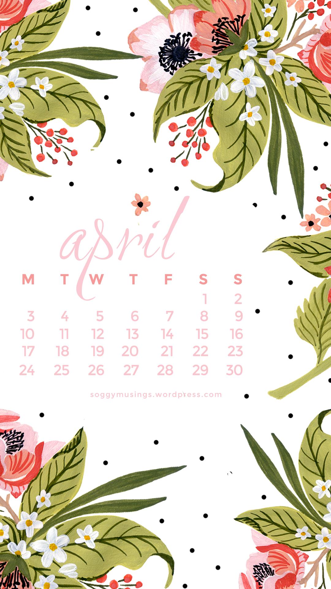 Calendar Wallpaper April : April wallpaper calendars soggy musings