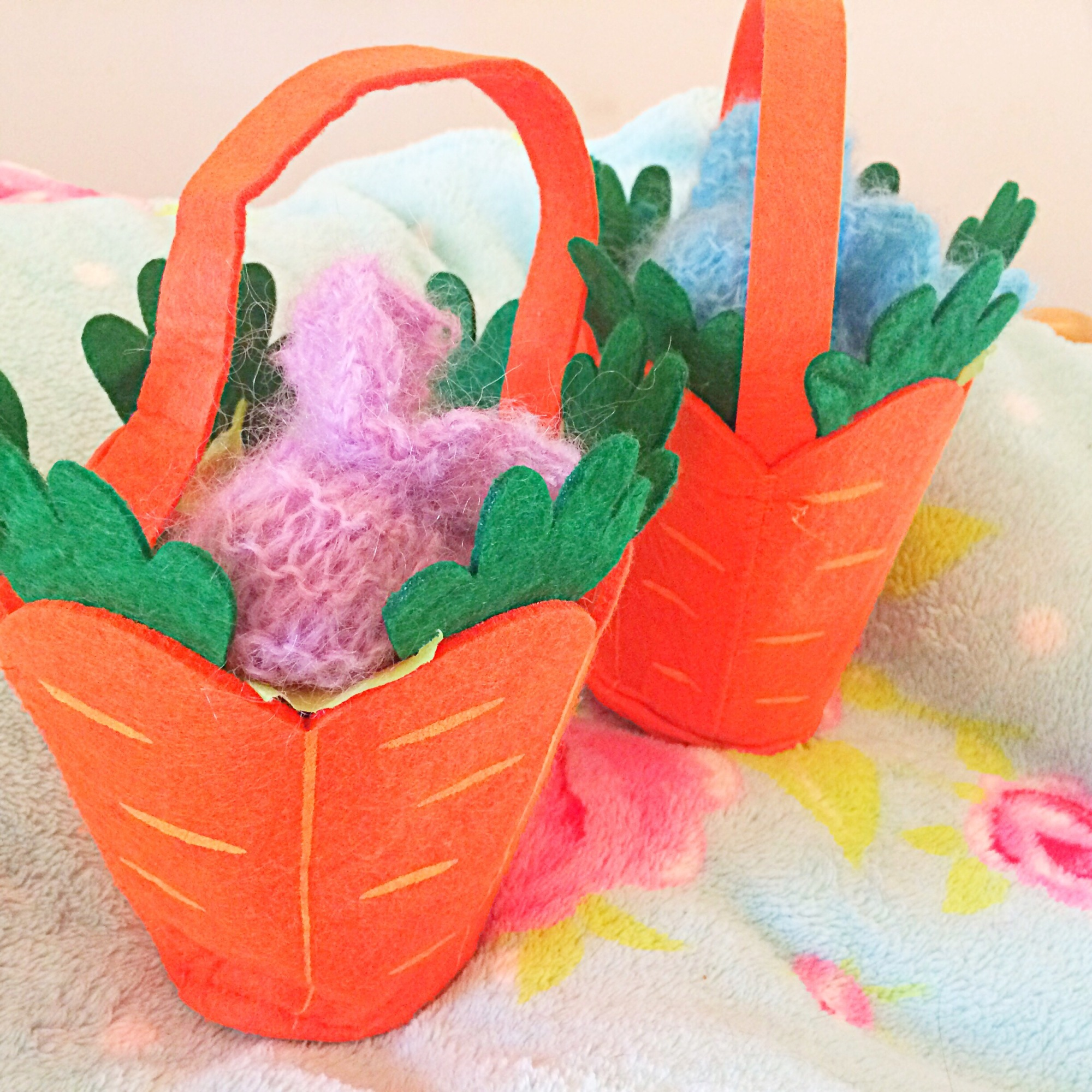 Carrot Easter baskets