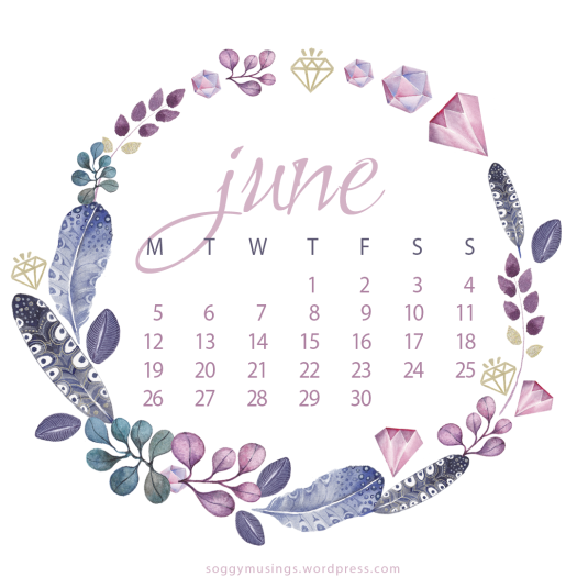 June 2017 calendar for iPad