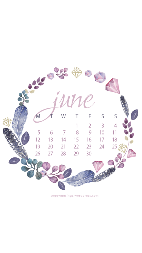 June 2017 calendar for iPhone