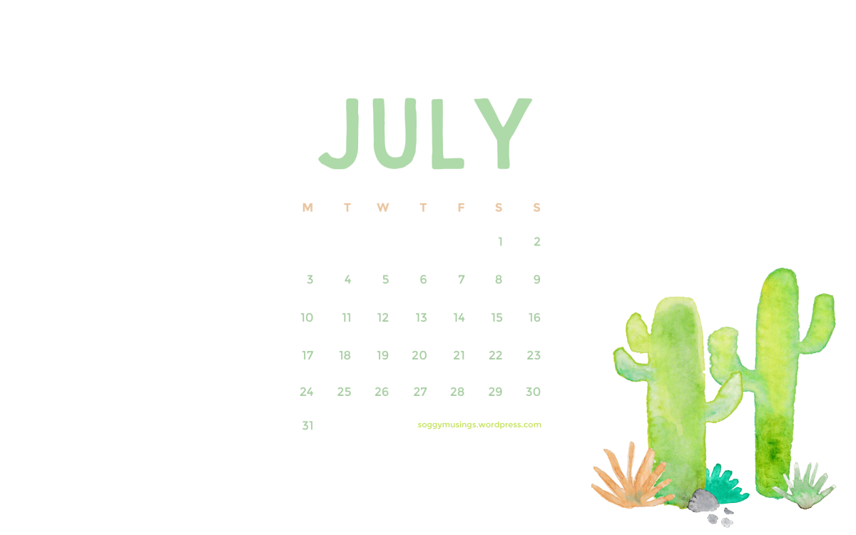July 2017 Wallpaper Calendar