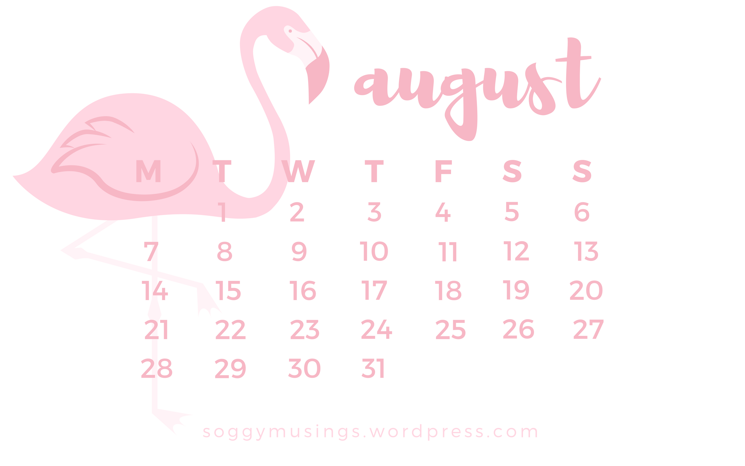 august 2017 wallpaper calendar  u2013 soggy musings