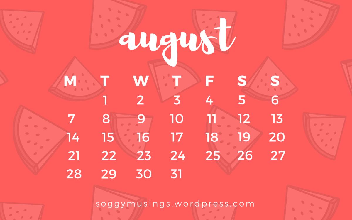 August 2017 Wallpaper Calendar