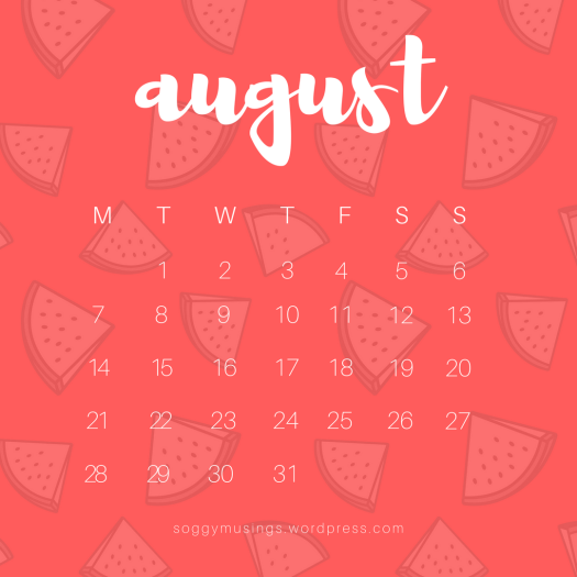 August 2017 wallpaper for iPad