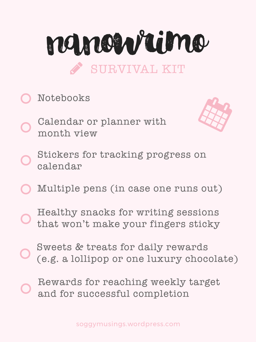 NANOWRIMO Survival Kit