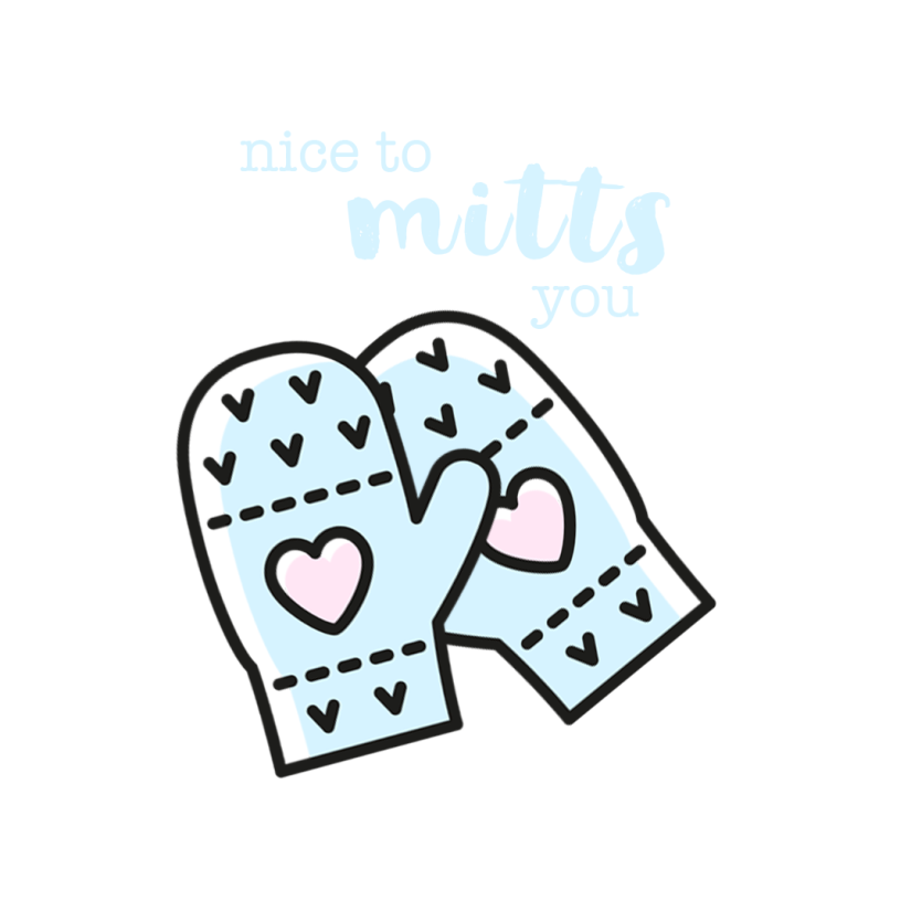Nice to Mitts You Wallpaper for iPad