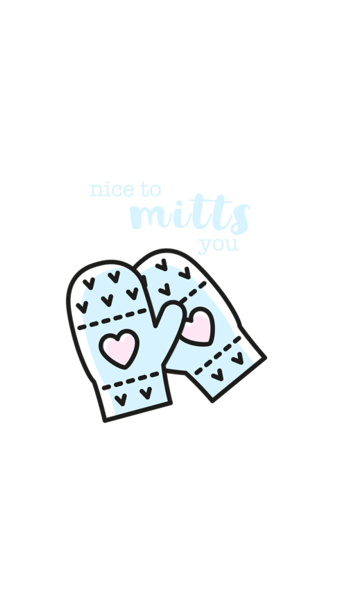 Nice to Mitts You Wallpaper for iPhone