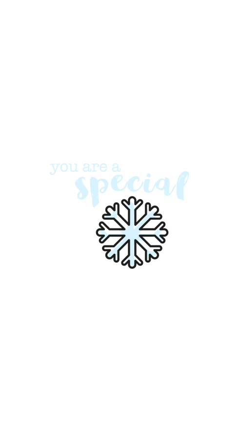 Special Snowflake Wallpaper for iPhone